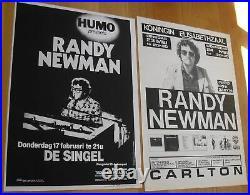 RANDY NEWMAN 2 original silkscreen concert posters'78'83