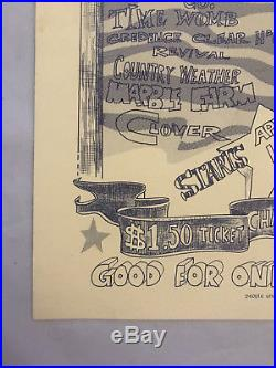 RARE Creedence Clearwater Revival CCR 1968 Concert Poster Vintage Original