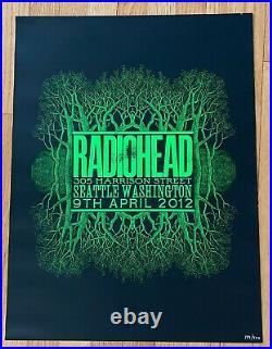 RARE Radiohead Concert Poster 2012 Tour Seattle Stanley Donwood 194/400