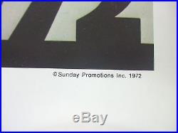 ROLLING STONES 1972 AMERICAN CONCERT TOUR POSTER ORIGINAL Excellent Condition