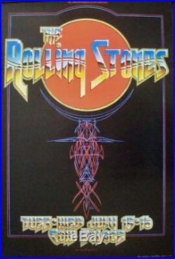 ROLLING STONES BGP 1975 COW PALACE concert poster KELLEY MOUSE TUTEN BILL GRAHAM