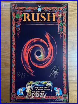 RUSH Vapor Trails Tour 02 Concert Poster art Hand Signed Geddy Lee Alex Lifeson