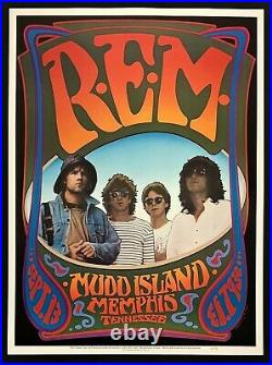 R. E. M. POSTER Mudd Island 1986 Memphis TN Concert Rick Griffin Randy Tuten PCL#3