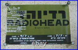 Radiohead Israel Concert Tour 2000 Promo Poster Israeli Hebrew Printed