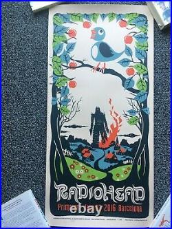 Radiohead (Primavera 2016) Concert poster by Chris Hopewell Original ScreenPrint