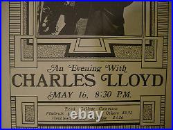 Rare /'70 Fillmore Era Original Artwork Plus 2 Charles Lloyd Concert Posters