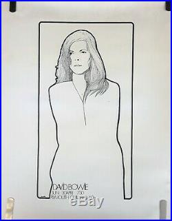 Rare David Bowie 1972 Vintage Original Plymouth Guildhall Concert Promo Poster
