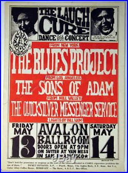Rare Family Dog #8 Avalon 1966 Laugh Cure First Print Concert Poster
