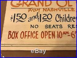 Rare HANK WILLIAMS Sr 1951 Original concert poster Birmingham Alabama