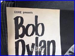 Rock Concert Vintage Poster 1960s Mid Century Bob Dylan Original Not Repop