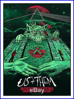 Roger Waters Us And Them American Tour Oz Variant Concert Poster #/100 Ap