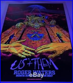 Roger Waters Us and Them Concert Poster 2017 Pink Floyd Black Light Print