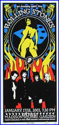 Rolling Stones Concert Poster 2003 NYC