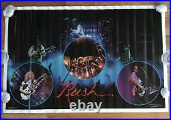 Rush 1979 Poster ORIGINAL Unused 2112 Time Period Live Concert Performance Rare
