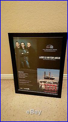 Rush Rare Original New Orleans Arena Sold Out 2008 Concert Promo Poster Framed