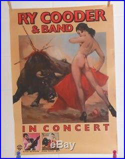 Ry Cooder & Band In Concert Promo Original 1981 Poster RARE 23x33 Little Village