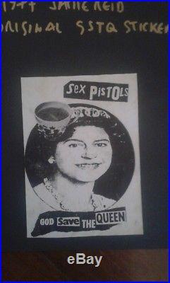 SEX PISTOLS Used GSTQ gummed sticker JAMIE REID poster flyer 45 LP punk concert