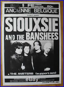 SIOUXSIE AND THE BANSHEES original silkscreen concert poster'79 PUNK WAVE