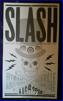 SLASH & Myles Kennedy Ryman 2019 HATCH SHOW PRINT Nashville Concert Poster GNR