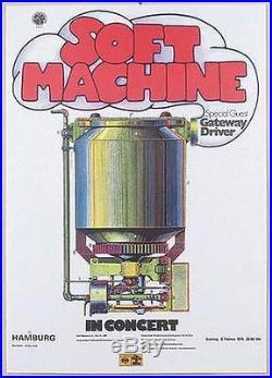 Soft Machine Germany Original Concert Poster 1974