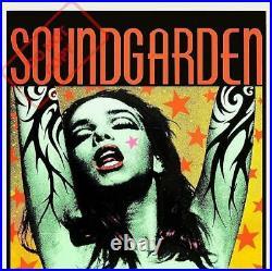 SOUNDGARDEN & PEARL JAM CONCERT POSTER GREEN LADY Frank kozik 1992 Japan