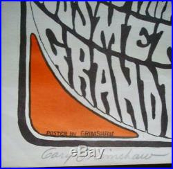 SOUTHBOUND FREEWAY MC5 GRANDE BALLROOM 1966 concert poster GARY GRIMSHAW signed