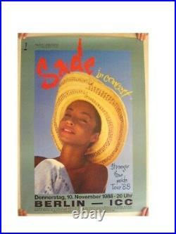 Sade German Concert Tour Poster Beautiful Face Shot