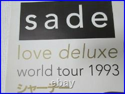 Sade Love Deluxe 1996 Japan Tour Promo Poster for Extra Date Tokyo Concert Adu