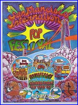 San Francisco International Pop Festival Concert Poster 1968 Psych Fillmore Rock