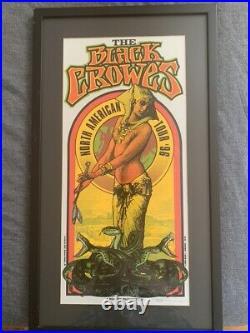 Signed Mark Arminski 1996 The Black Crowes Concert Poster Rare Variant