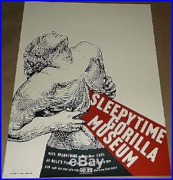 Sleepytime Gorilla Museum Indorphine silkscreen concert poster Art Chantry