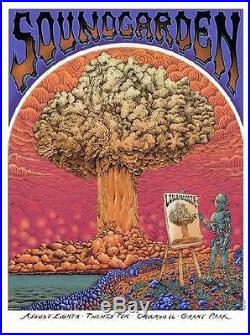 Soundgarden Chicago 2011 Lollapalooza Emek Concert Poster Silkscreen Original