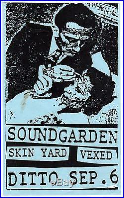 Soundgarden Concert Flyer 1985 The Ditto Seattle WA + Skin Yard Grunge Punk RARE
