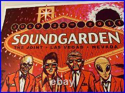 Soundgarden Concert Poster Munk One Las Vegas July 23rd 2011 Rare Hard Rock