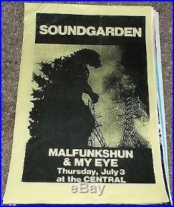 Soundgarden Malfunkshun Andy Wood My Eye concert flyer poster