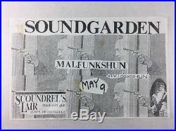 Soundgarden Malfunkshun Vivi S Scoundrel's Lair SEATTLE May 9 Concert Poster