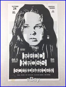 Soundgarden Redd Kross Central Tavern Seattle Oct 24, 1987 Concert Poster
