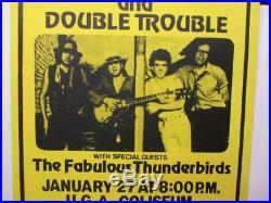 Stevie Ray Vaughan Athens, Ga Rare 1986 Original Concert Poster NMint Last One