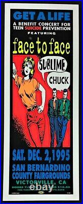 Sublime POSTER Face To Face Chuck Get A Life Benefit Concert Silkscreen by TAZ