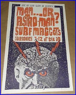 Surf Maggots Man or Astroman Subsonics 3B Tavern concert poster Art Chantry