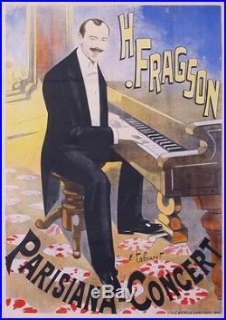 Tabouret Emile Vintage Poster H. Fragson Parisiana Concert
