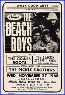 THE BEACH BOYS (1968) BOSTON CONCERT POSTER Original Scarce