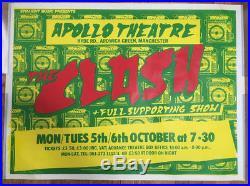 THE CLASH original 1981 concert poster MANCHESTER Radio Clash Tour
