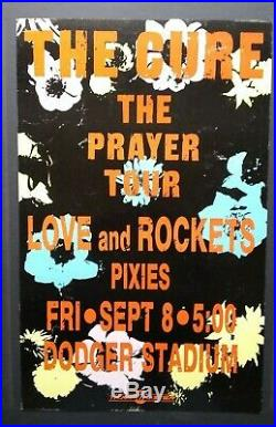 THE CURE/LOVE AND ROCKETS/PIXIES Original Promo Concert Poster 1989 L. A. Bauhaus