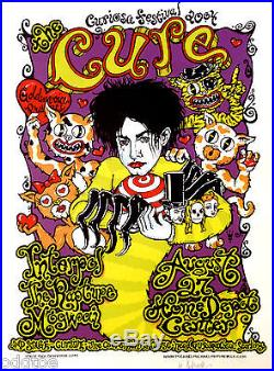 THE CURE Original Concert Poster S/N by Michael Motorcycle Curiosa Fest