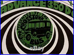 THE DOORS 1967 CROSSTOWN BUS CONCERT POSTER Unknown Variant/1st East Coast Shows