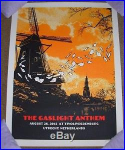 THE GASLIGHT ANTHEM concert gig poster UTRECHT NETHERLANDS 8-26-15 2015