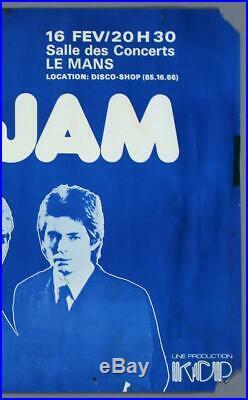 THE JAM mega rare vintage original Le Mans, France 1978 concert poster PUNK
