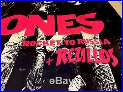 THE RAMONES+REZILLOS 1977 UK Concert Poster, Large 29X38 Rocket 2 Russia-Punk