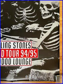 THE ROLLING STONES World Tour 94/95 Voodoo Lounge HUGE CONCERT Tour POSTER Minty